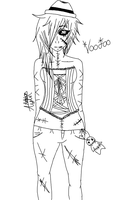 Voodoo Line drawing by kat1088