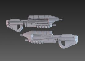 Halo Assault Rifle by martynball
