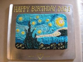 Starry Night Cake by Stephanefalies