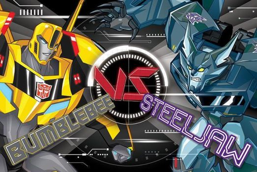 Bumblebee VS Steeljaw by Scourgethedestron