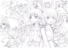 sketching hm rune factory2 by Lavypoo