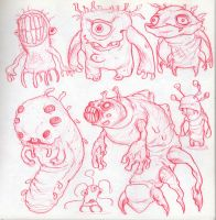 Creatures from my sketchbook by Axel13-Gallery