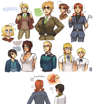 Hetalia genderbends by emlan