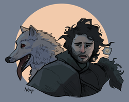 Jon Snow Sketch by AmandaKieferArt