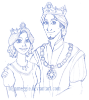 king and queen :sketch: by tugaMaggie