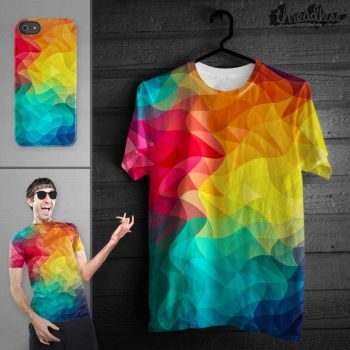 Abstract Color Wave Flash @threadless by mrsbadbugs