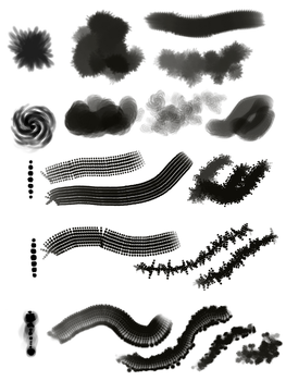5 GIMP Brushes by AnastasiaMorning