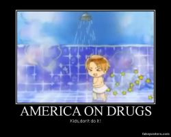 America on drugs XD by yunira-chan
