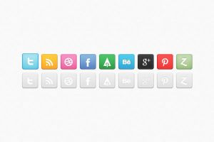 Revised Social Media Icon Set by bestpsdfreebies