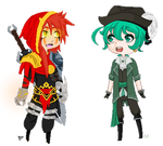 Collab - Trick or treating with a pirate! by TheFallingpiano