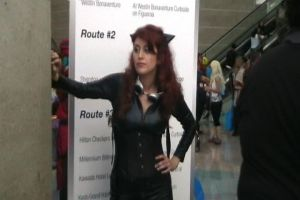 Catwoman chilling Anime Expo 2012 by slasherman