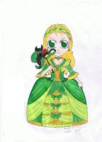 Animelady colored by TolekBanan2007