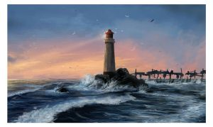 The lighthouse by mirchiz