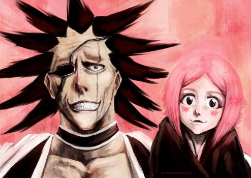 Kenpachi and Yachiru by Drimr
