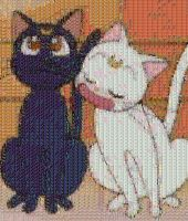 Luna and Artemis mosaic by smallrinilady