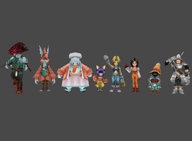 FF9 main character pack by Lopieloo