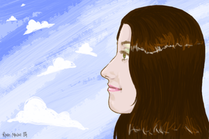 Profile, and sky. by rose-star