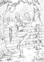 Cowgirl Commission by marvelmania