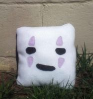 No Face Pillow by GreenSleazy