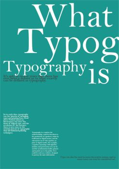What is typography? by Psychotic-Hamster