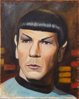 Spock Painting Sm by amcanulty