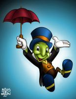 Jiminy Cricket Colour by billythebrain