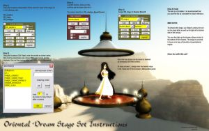 MMD Oriental Dream Stage Set instructions by Trackdancer