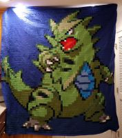 Tyranitar Quilt by 8bitHealey