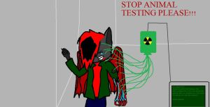 STOP ANIMAL TESTING PLEASE by nightblade0100