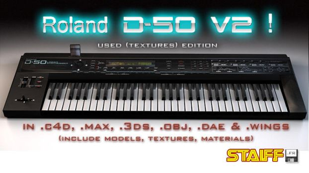 Roland D-50 V2 3D model by staiff