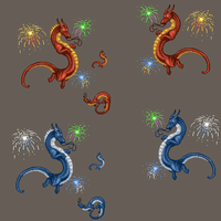 Firework dragons by TheWyvernGuy