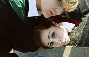 Just take a look - Draco x Hermione cosplay by equiclubecastello