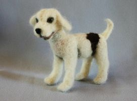 Needle-felted pup by Artemisia52