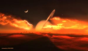 Ruined cities on Titan by stargazer101059