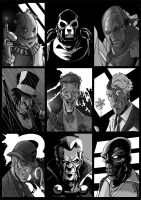 Batman Villains by drvce