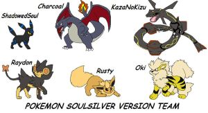 PokemonSoulSilver Version Team by dRaWiNgWiThHeArT