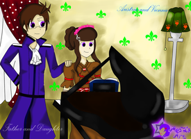 AT: Father and Daughter moment with Piano by TsundereViolet-Chan