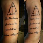 Deathly Hallows Tattoo by Ladyknight17