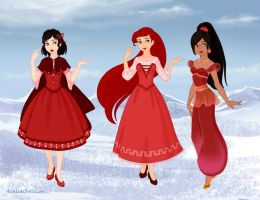 Red Princesses by M-Mannering