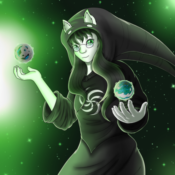 Jade Harley- Witch of Space [Homestuck] by AquasElemental