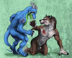 Kasirga vs. Werewolf by lycanthropeful
