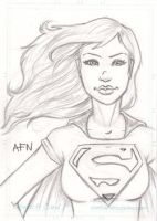 Super Girl Sketch Card by Nortedesigns