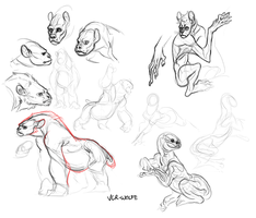 monster sketches by VCR-WOLFE
