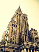 The palace of culture and science by L-JustinePhotography