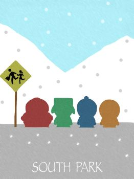 South Park Minimalist Poster by Mr-Saxon