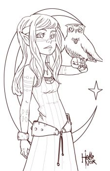 So I made a lineart by Hellenor