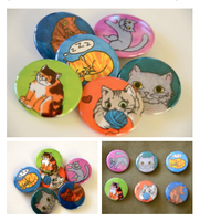 Funny Cats - Button Set 1 part 1 by artshell