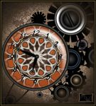 Clock with Gears by GrannyOgg