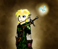 Link and Navi by WerewolfDragonGirl