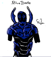 Paint Chat: Blue Beetle by Prota-Girl